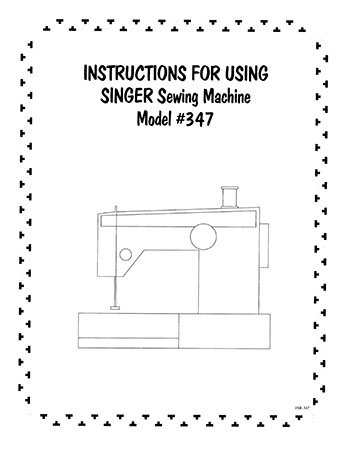 INSTRUCTION BOOK Singer 347