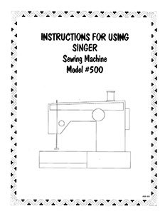 INSTRUCTION BOOK Singer 411 414 500 503