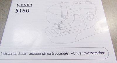 INSTRUCTION BOOK, Singer 5160