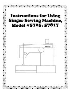 INSTRUCTION BOOK Singer 2517 5705 5710 57817 57820