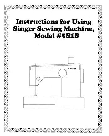 Instruction Book Singer 5818