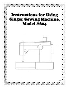 Instruction Book Singer 604