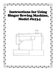 INSTRUCTION BOOK Singer 6234 6235