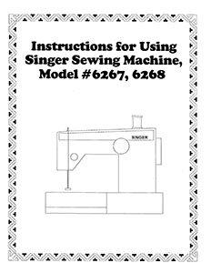 INSTRUCTION BOOK Singer 6267 6268