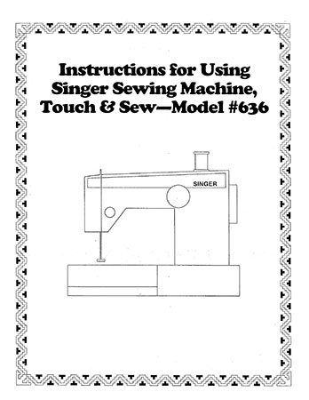 Instruction Book Singer 626 636 646