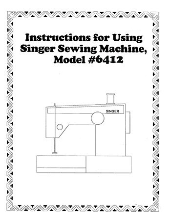 Instruction Book Singer 6408 6412