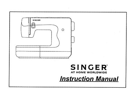 Instruction Book Singer 6550