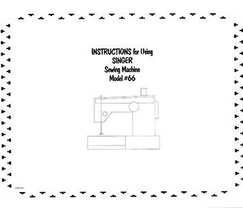 Instruction Book Singer 66 99 185 201