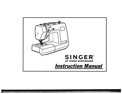 INSTRUCTION BOOK Singer 7360