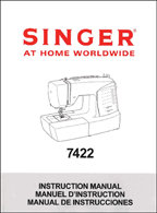 Instruction Book Singer 7422