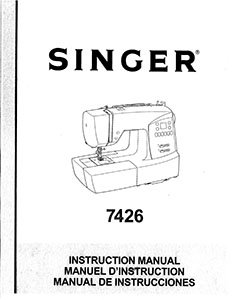 INSTRUCTION BOOK Singer 7426