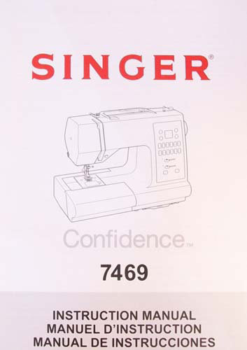 Instruction Book Singer 7469 7469Q