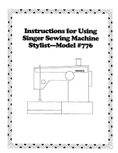 Instruction Book Singer 734 776