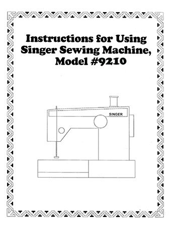 Instruction Book Singer 9210