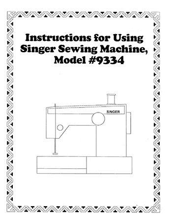 Instruction Book Singer 9323 9334
