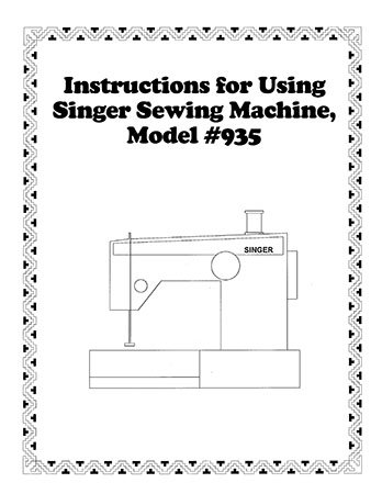 Instruction Book Singer 935
