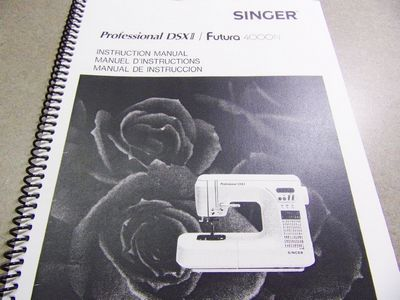 INSTRUCTION BOOK Singer DSX2