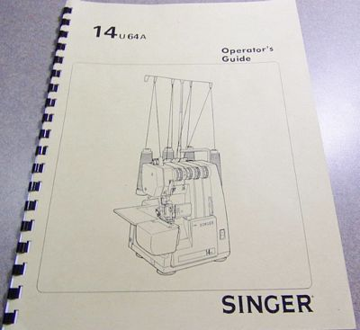 Instruction Book Singer 14U64