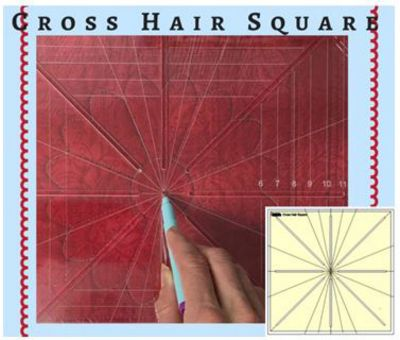 """Cross Hair Square Ruler 8 Point 12.5"""" by Westalee"""