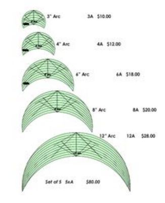 """4"""" Arc Free Motion Quilting Template - High Shank"""