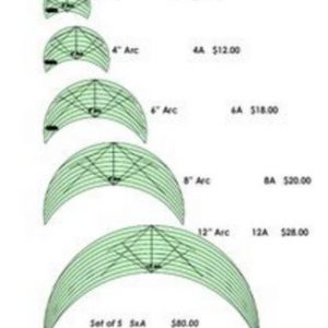 """4"""" Arc Free Motion Quilting Template - Long Arm"""