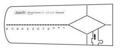 Artisan Curve Diamond 13 Template - Long Arm