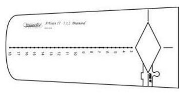 Artisan Curve Diamond 17 Template - Low Shank