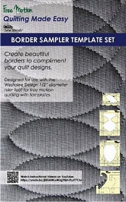 Border Sampler Set of 5 Templates - High Shank