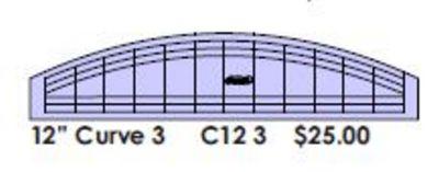 "Curve Ruler 12"" x 1.5"" - Low Shank"