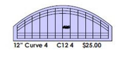 "Curve Ruler 12"" x 2"" - High Shank"