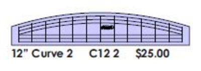 """Curves Template 2 12"""" x 1"""" - Low Shank"""