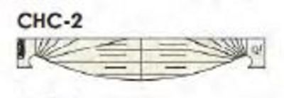 """Curved Cross Hatch 1"""" Template - Low Shank"""