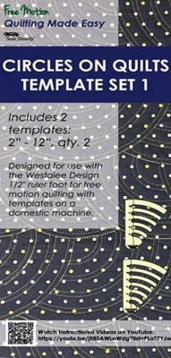 Circles on Quilts Template Set 1 - High Shank
