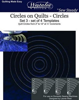 Circles on Quilts Template Set #3 - Long Arm