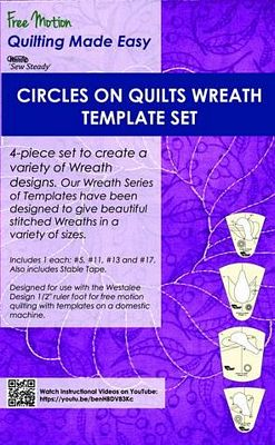 Circles on Quilts Wreath 4pc Set-High Shank