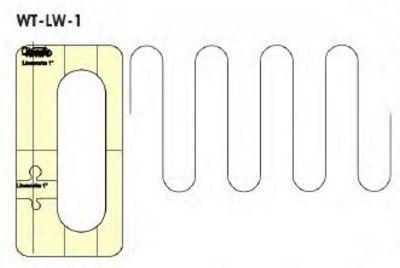 "Line Works 1"" Template Design - High Shank"