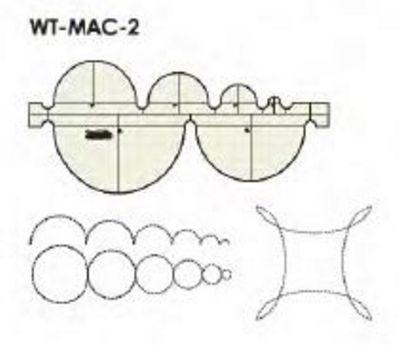 Low Shank Circles Multi Arc Ruler