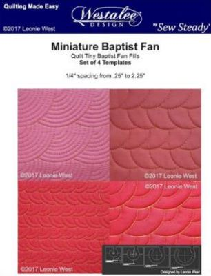 Mini Baptist Fan 4-pc Set - Low Shank