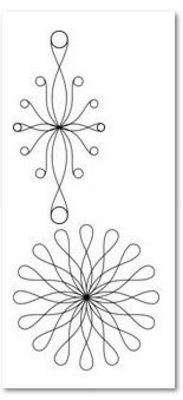 Long Arm Curly Q Set 2 6mm Template