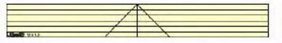 """Straight Ruler 3"""" x 18"""" Template - Long Arm"""