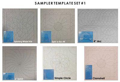 Sampler Template Set 1 High Shank 4.5mm Template