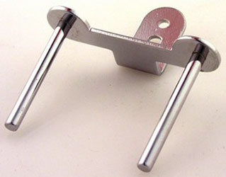 SPOOL PIN double with bracket, metal