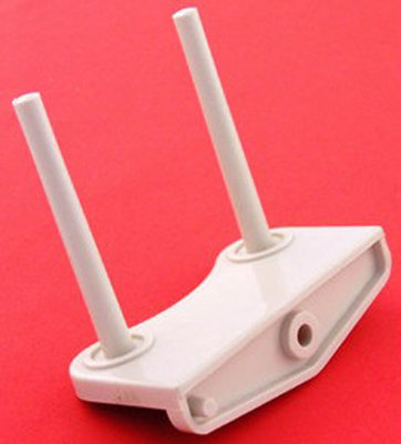 SPOOL PIN double with bracket, plastic